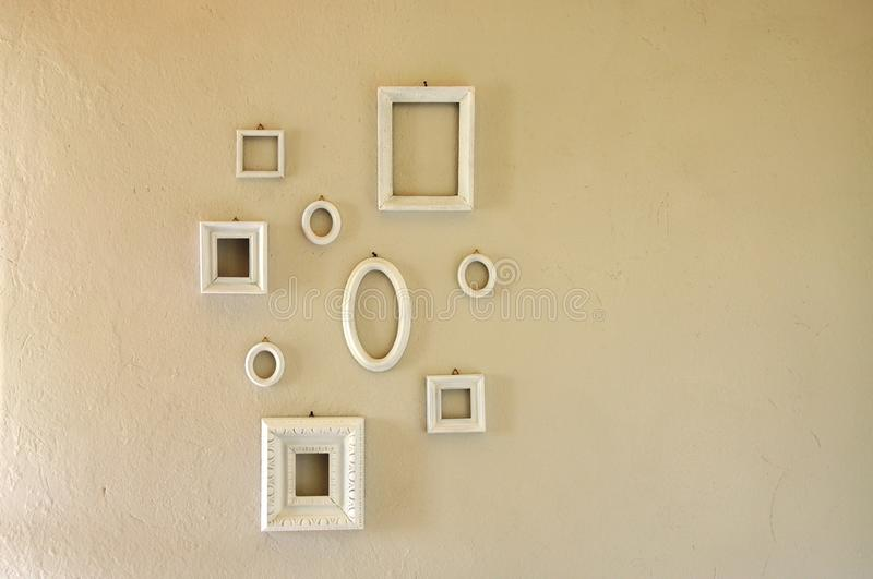 Set of different shaped picture frames stock image