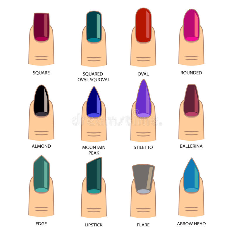 Different Acrylic Nails Designs