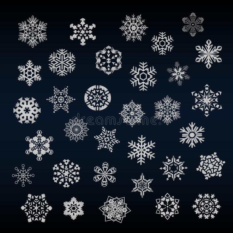 Download Set Of Different Snoflakes Vector Stock Vector - Image: 33724763