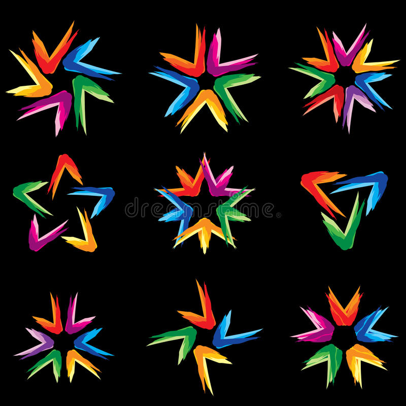 Download Set Of Different Stars Icons #5 Stock Vector - Image: 16982961