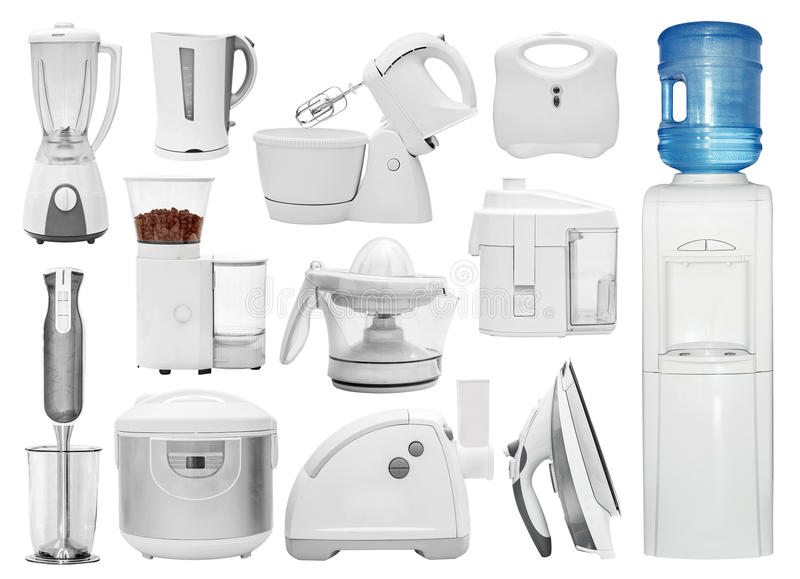 Set Of Different Types Of Kitchen Appliances Stock Photo - Image of ...