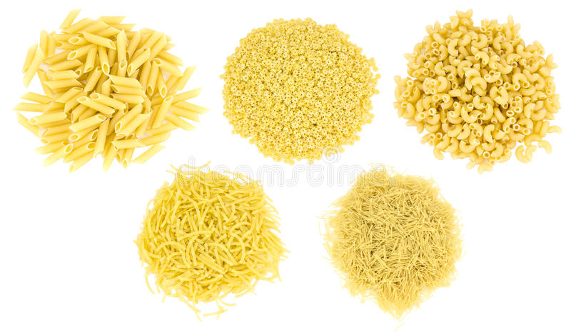 Download Set Of Different Types Of Pasta Stock Photo - Image: 22788506