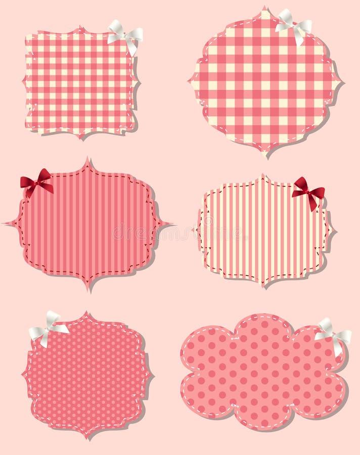 Set of different Valentine`s dey labels, design royalty free illustration