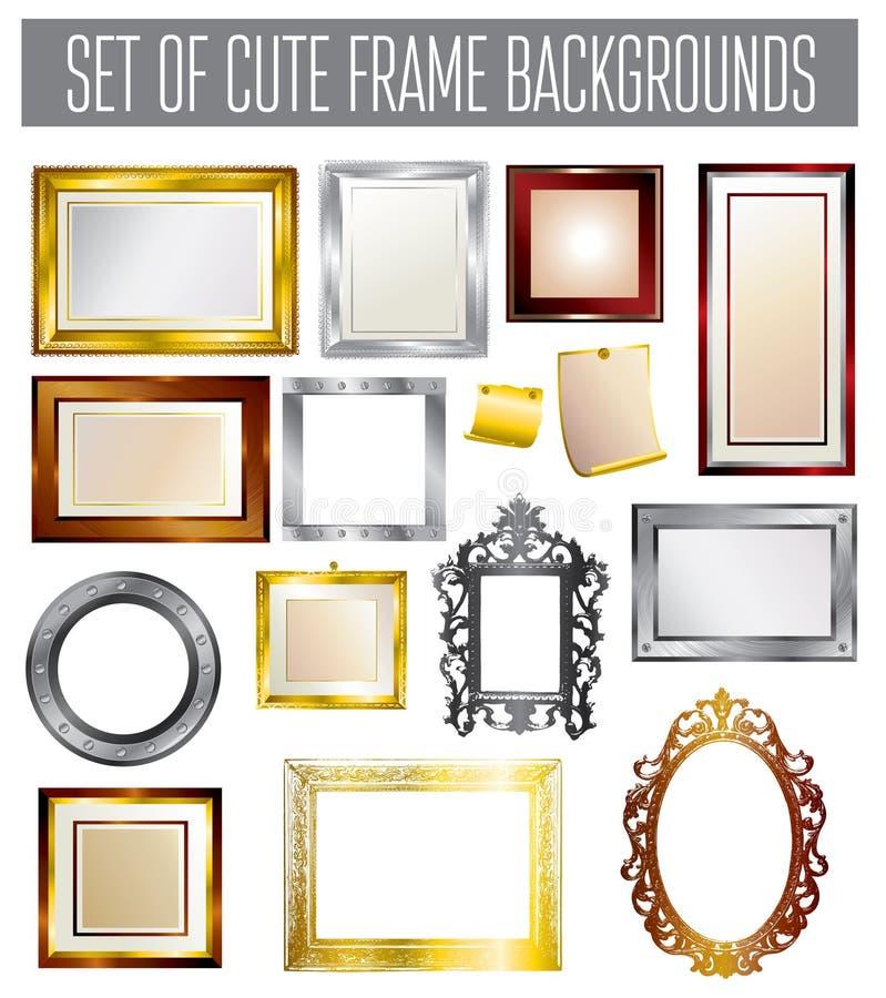 Set of different vector frames vector illustration