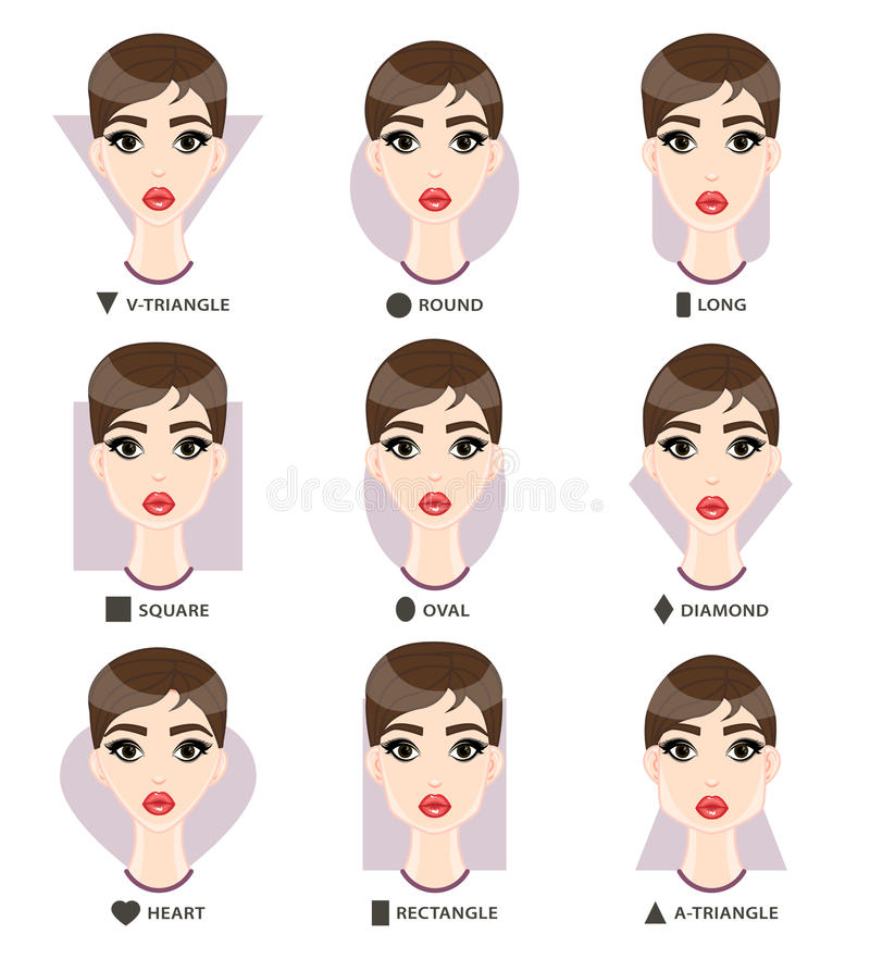 Set of different womans face shapes nine female faces form stock download set of different womans face shapes nine female faces form stock vector image urmus Image collections