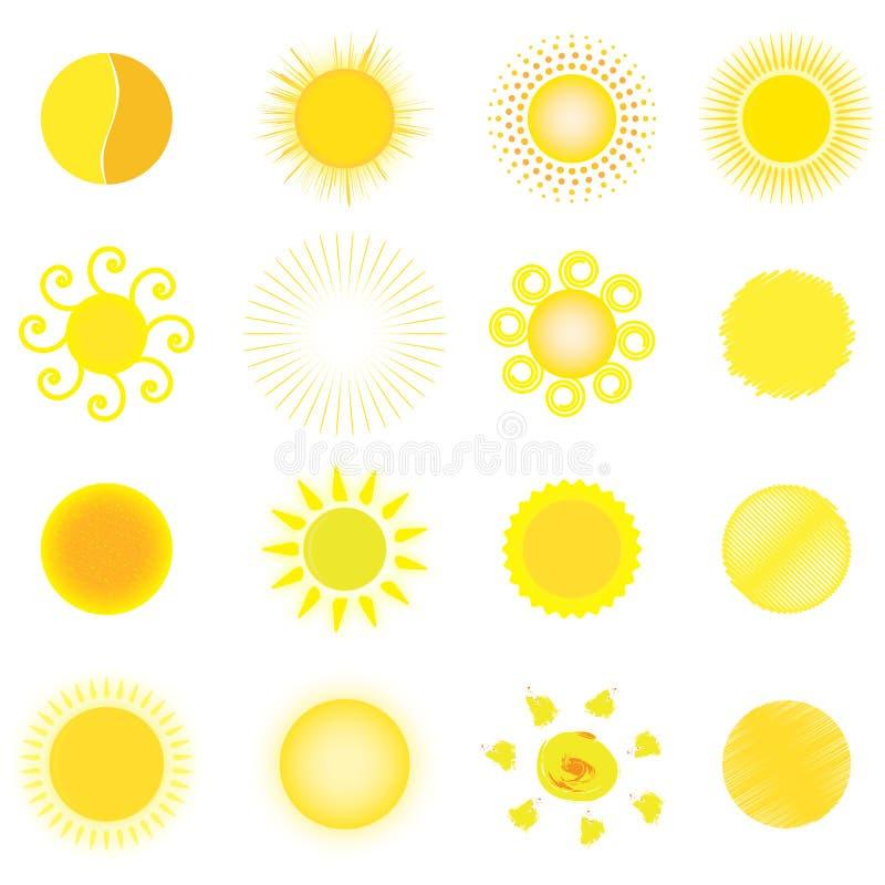 Download Set of sun stock illustration. Illustration of illuminate - 29907113