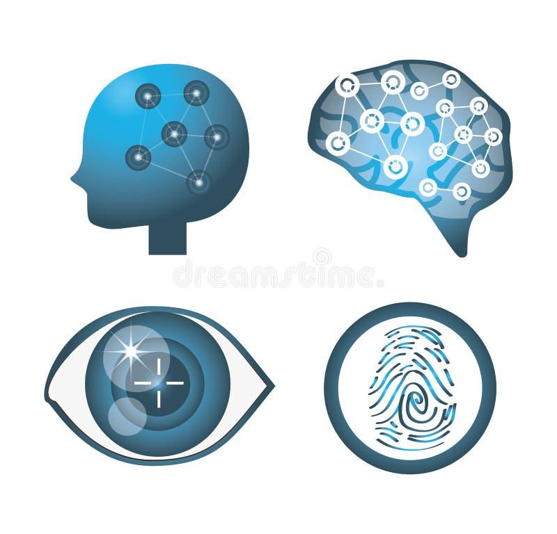 Set digital future technology connection stock illustration