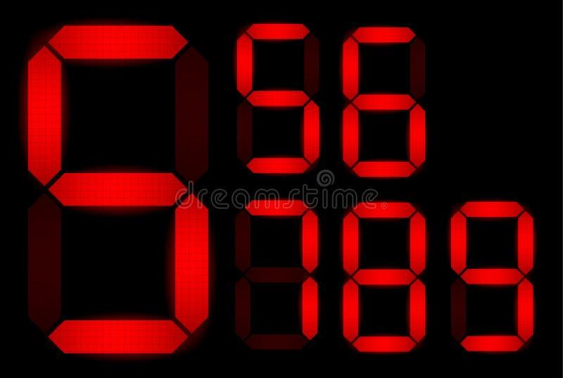 Download Set of digital numbers stock illustration. Image of closeup - 20316303