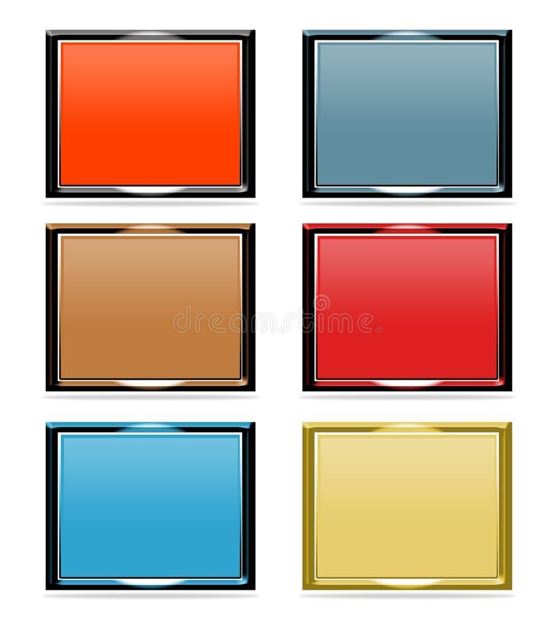 Set of dimensional frames stock image