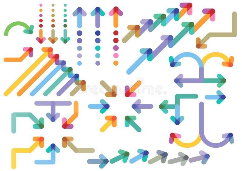 Set of directional arrows stock illustration