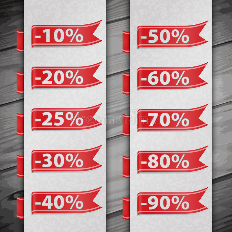 Download Set Of Discount Percent Illustration Stock Photo - Image: 40272262