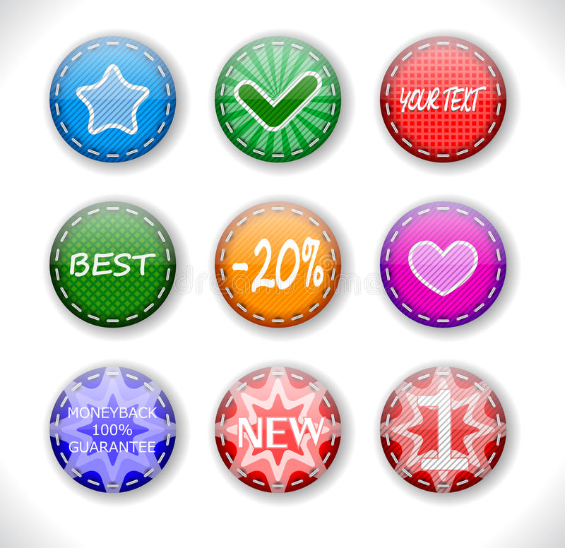 Set Of Discount Sale Badges Royalty Free Stock Images