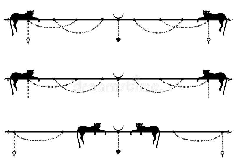 Set divider z kotem ilustracja wektor