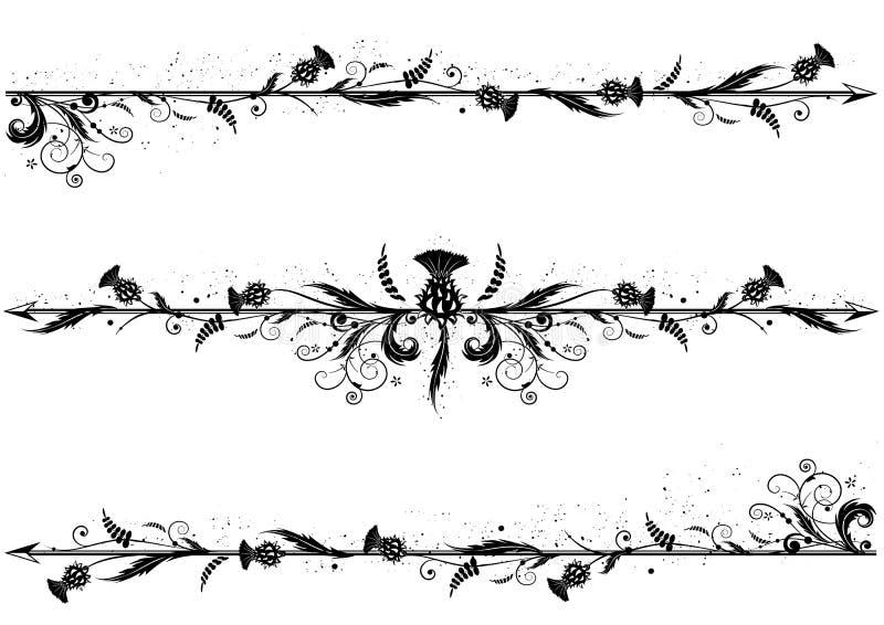 Set dividers z osetem ilustracja wektor