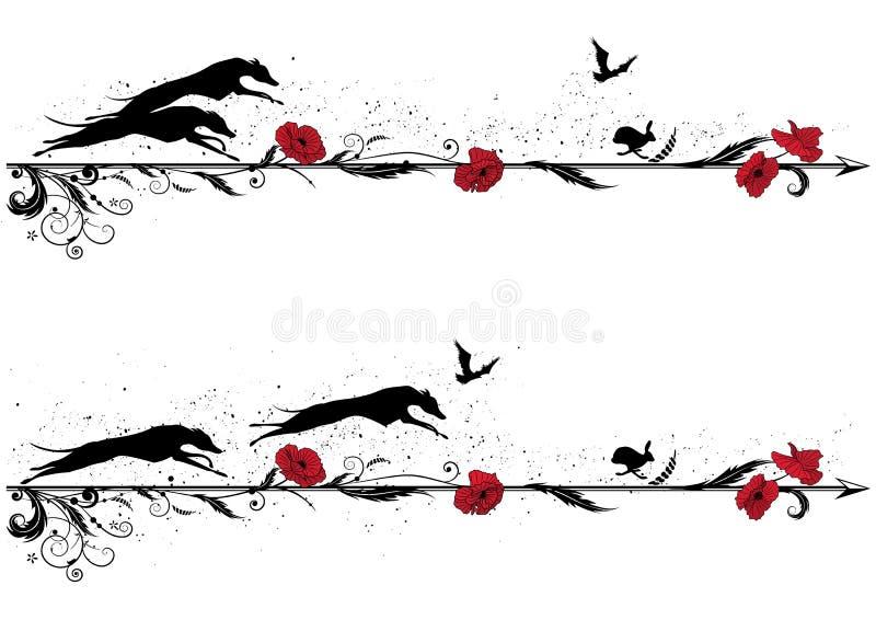 Set dividers z psami ilustracji