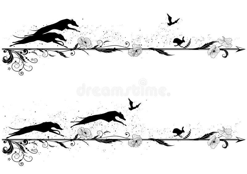 Set dividers z psami royalty ilustracja