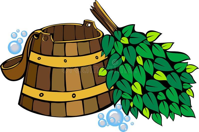 Set dla sauna royalty ilustracja