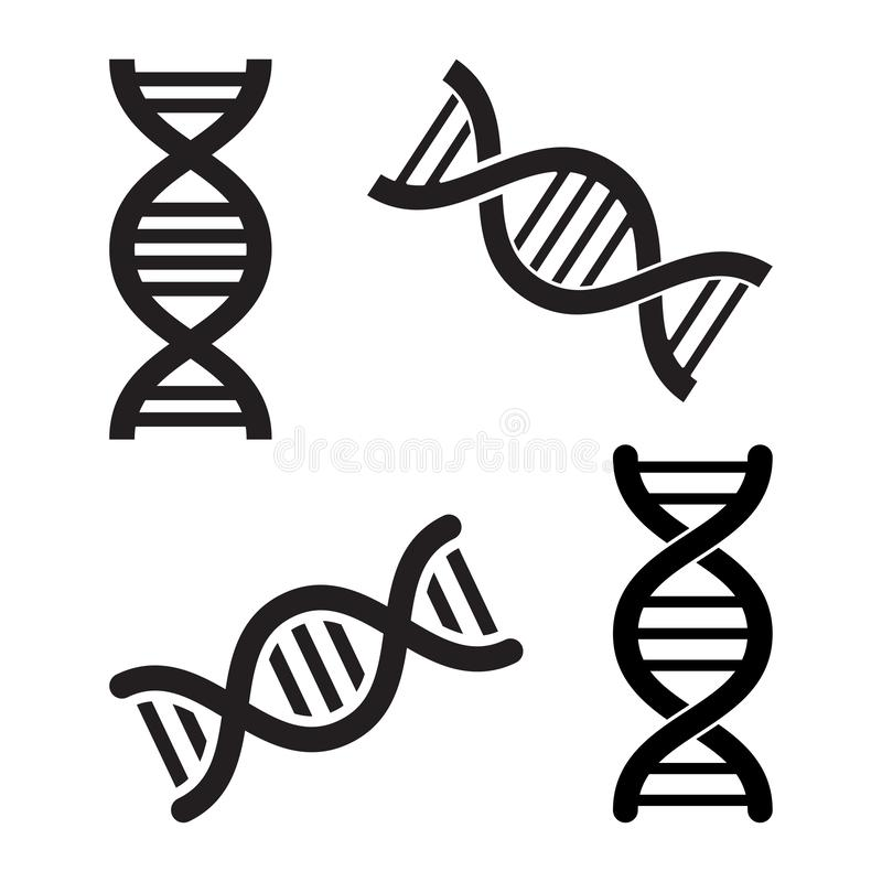 Set of DNA icons. Vector illustration vector illustration