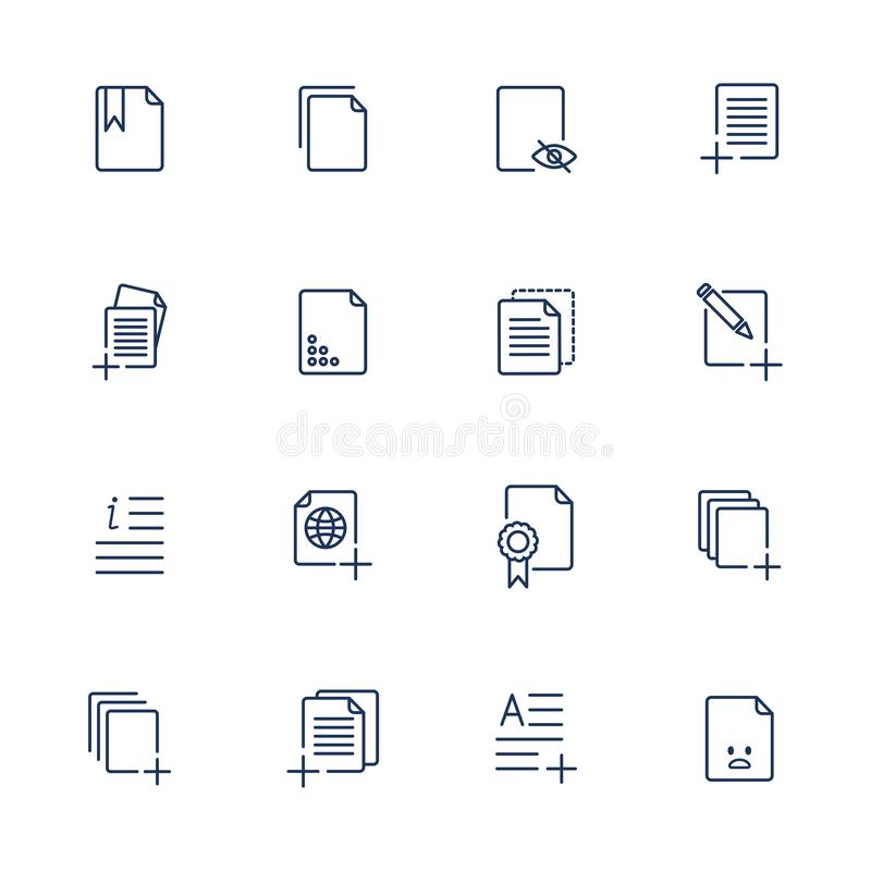 Set document icons, paper icons vector illustration