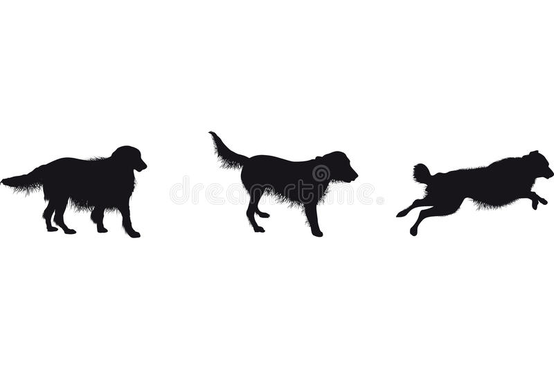 Download Set of dog silhouettes stock vector. Image of nature - 26252213