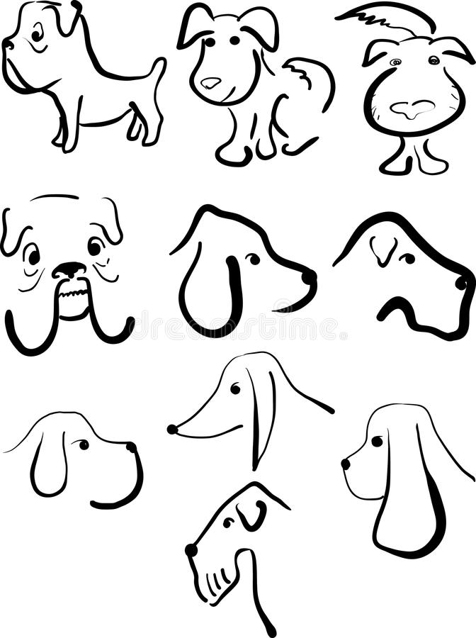 Download Set Of Dogs Royalty Free Stock Images - Image: 22717129