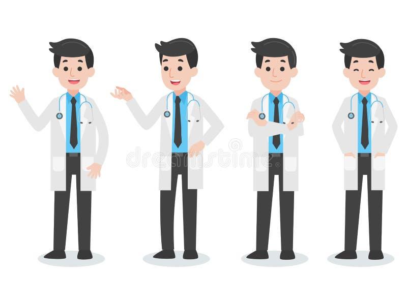 Set Doktorskiego charakteru opieki zdrowotnej Medyczny pojęcie ilustracji