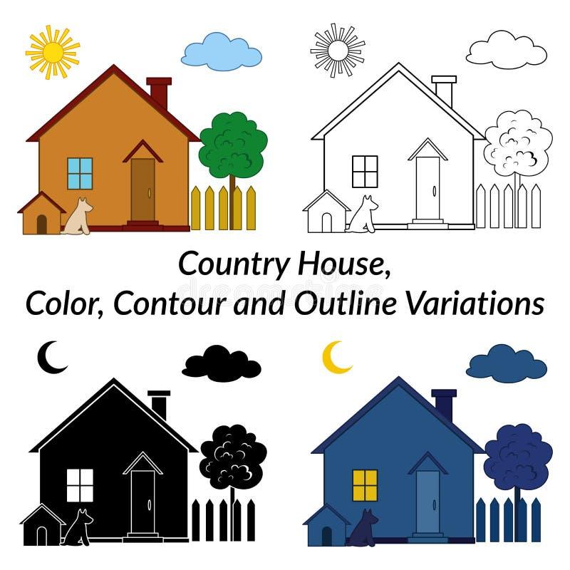 Set dom na wsi royalty ilustracja