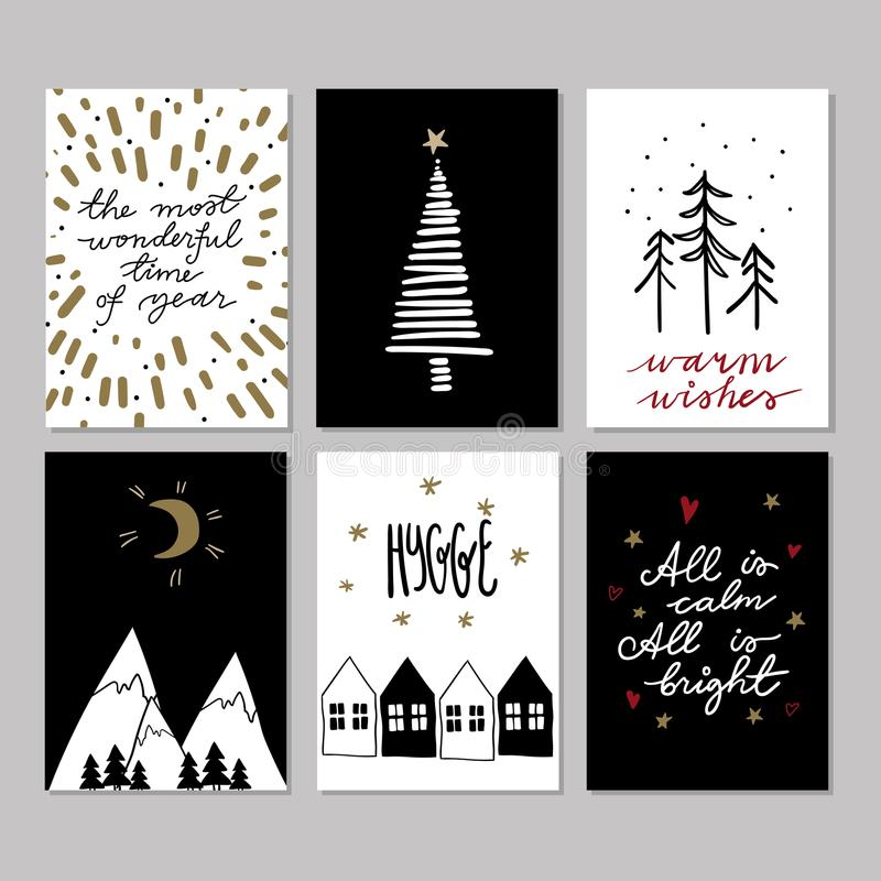 Set of doodle christmas greeting cards vector hand drawn cute icons download set of doodle christmas greeting cards vector hand drawn cute icons scandinavian style m4hsunfo