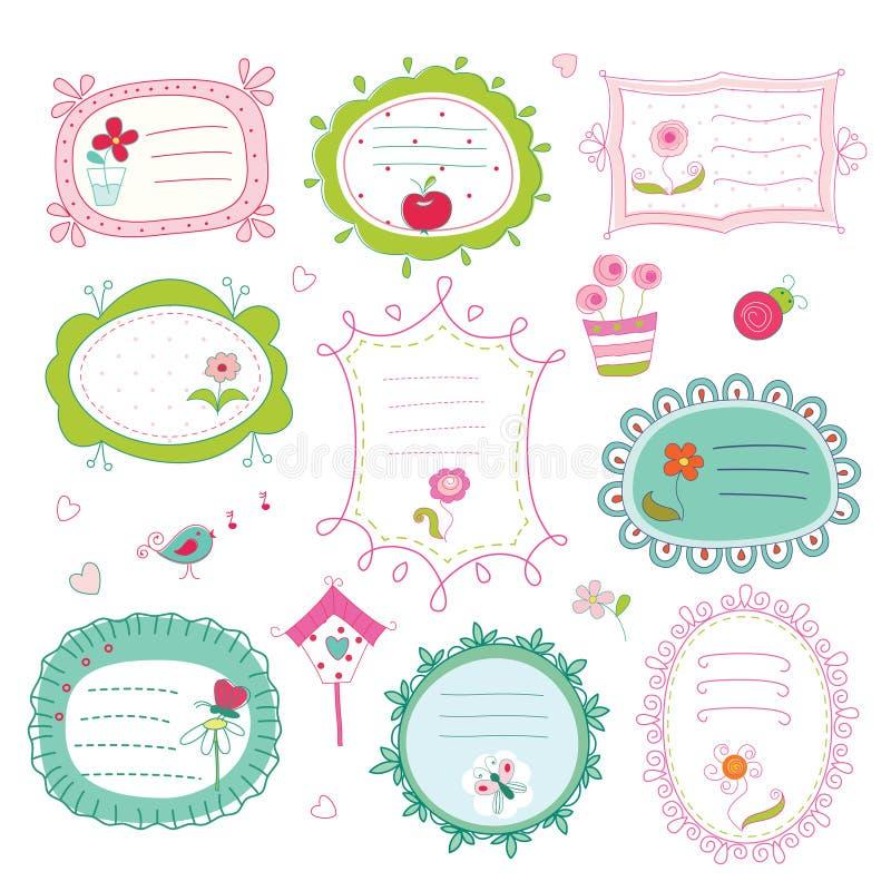 Set doodle ramy ilustracji
