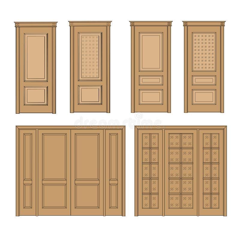 Download Set Door Sketch Stock Illustration. Illustration Of Contour    91306790