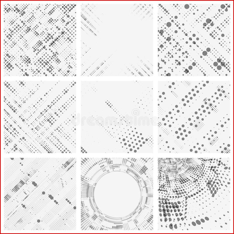 Set of dotted abstract forms royalty free illustration