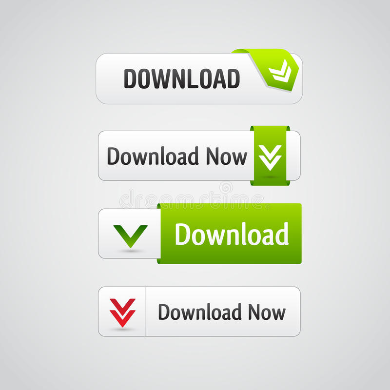 Set Downloadtasten lizenzfreie abbildung