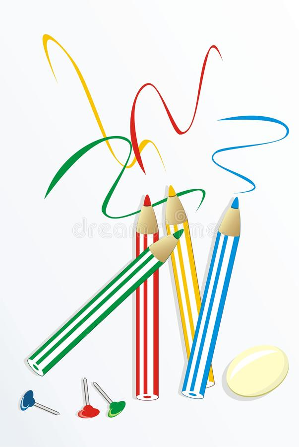 Set for drawing royalty free stock image