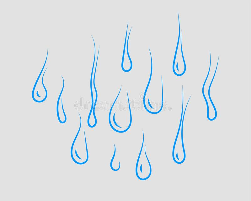 Set drop water icon vector isolated design element royalty free illustration