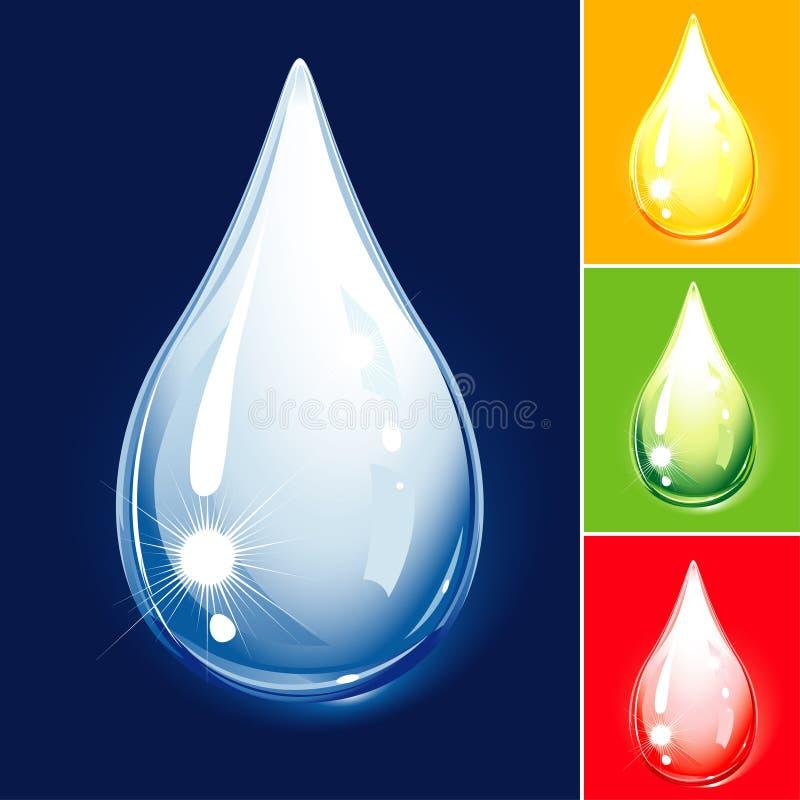 Set Of Droplets. Drop Color Variations, editable vector illustration stock illustration