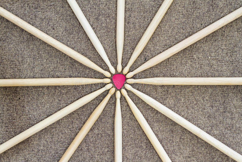 set of drum stick. royalty free stock photo