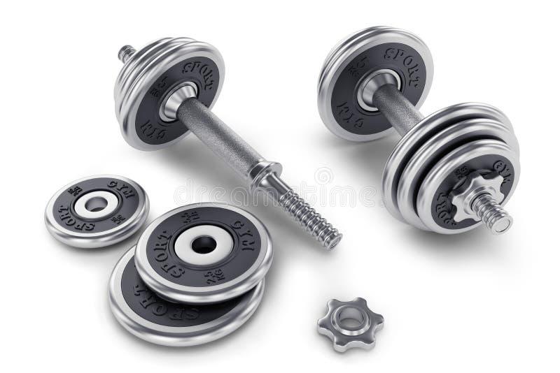 Download Set Of Dumbbell For Fitness Stock Illustration - Image: 34340633
