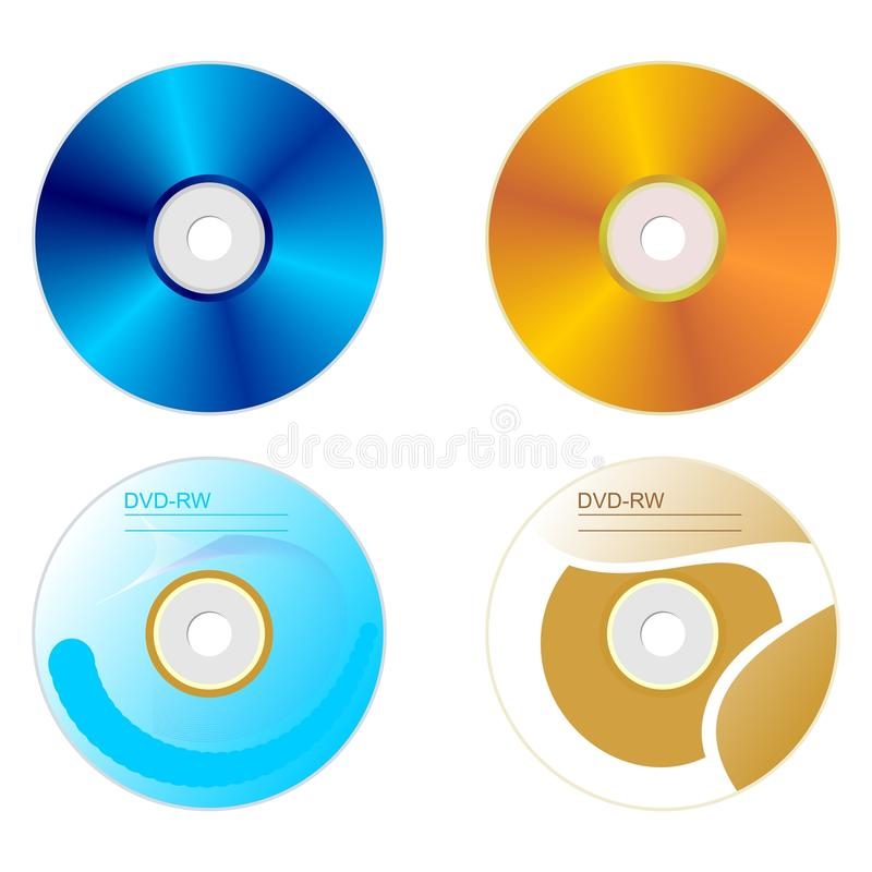 Download Set DVD Disk With Both Sides Stock Vector - Image: 14045538