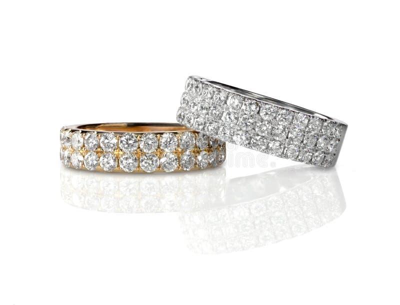 Set dwa ślubnego zespołu pierścionku zdjęcia royalty free