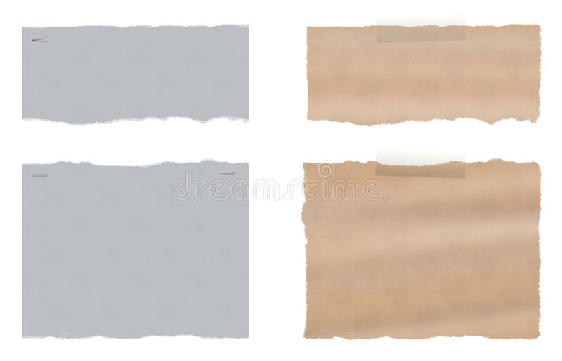 Set dwa poszarpany rozdzierający papier royalty ilustracja