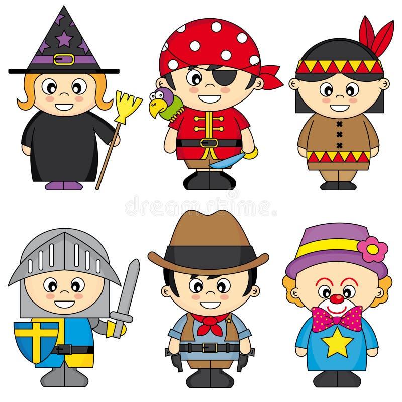 Set dzieci ubierający royalty ilustracja