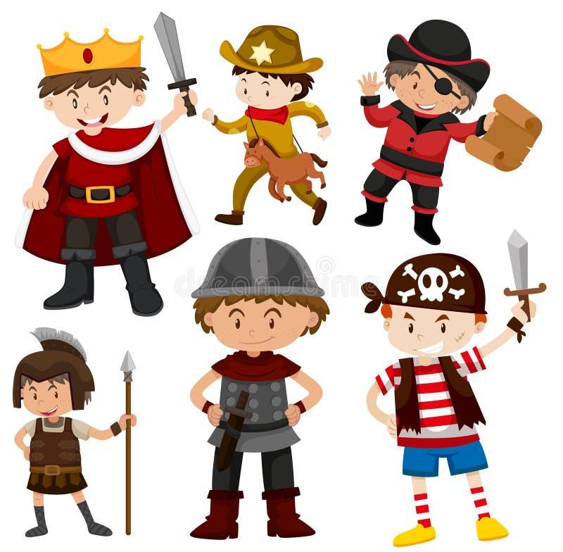 Set dzieci w kostiumach royalty ilustracja