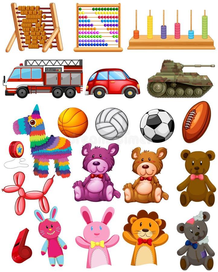 Set dziecko zabawki ilustracja wektor
