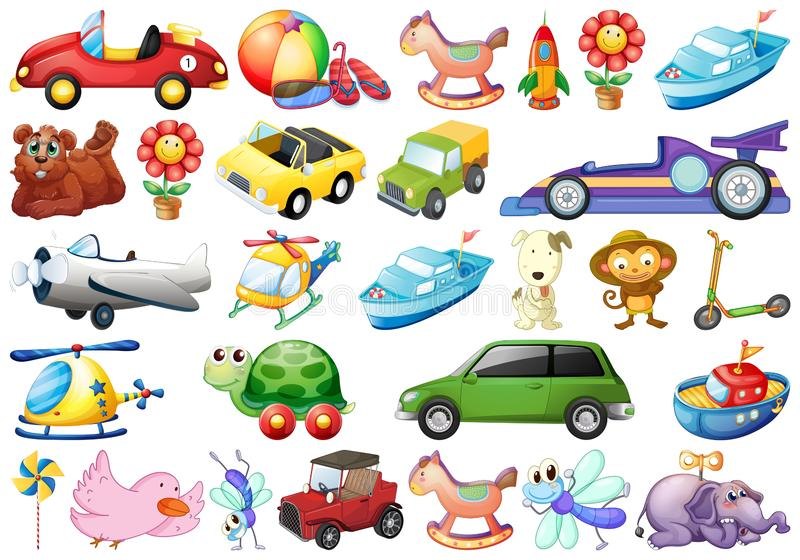 Set dziecko zabawki royalty ilustracja