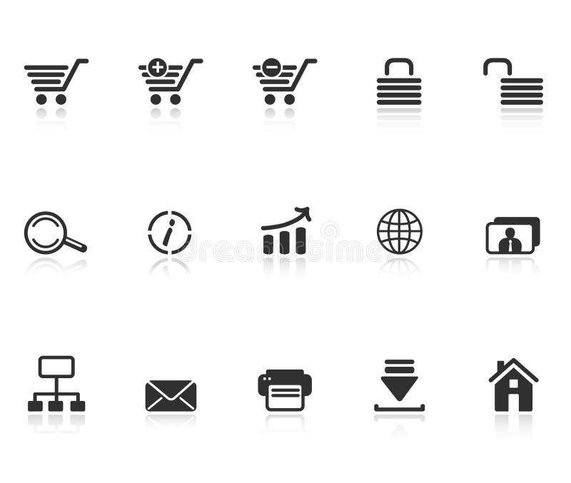Set of e-commerce icons royalty free illustration