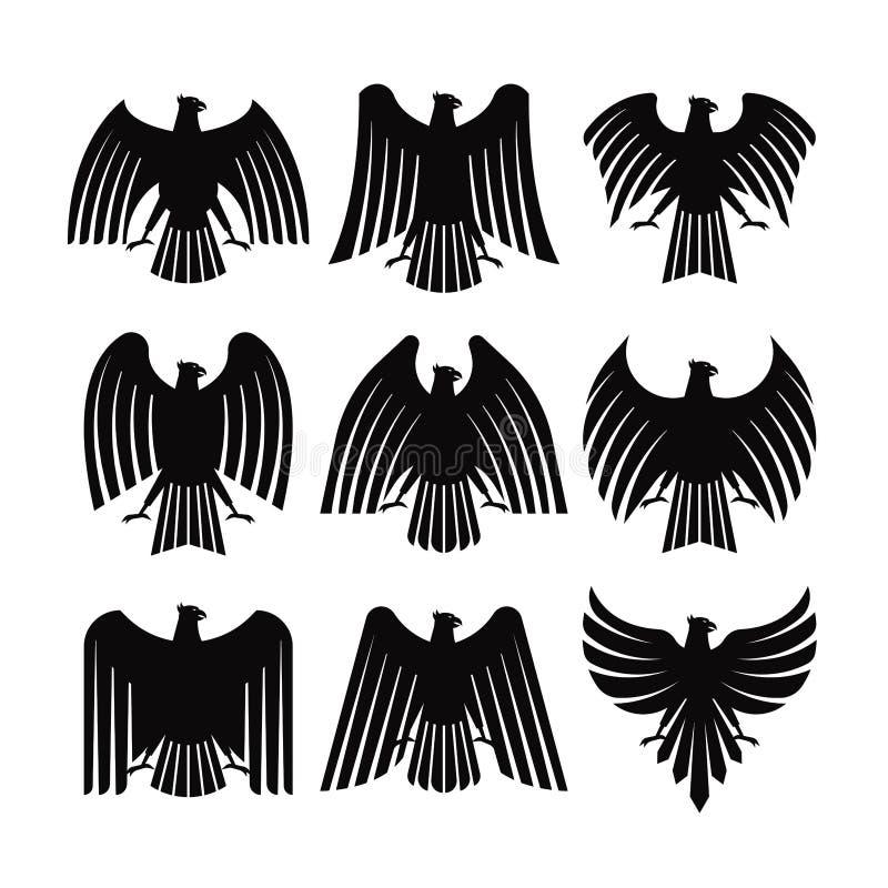 EAGLE COAT VECTOR. SET OF EAGLE COAT VECTOR royalty free illustration