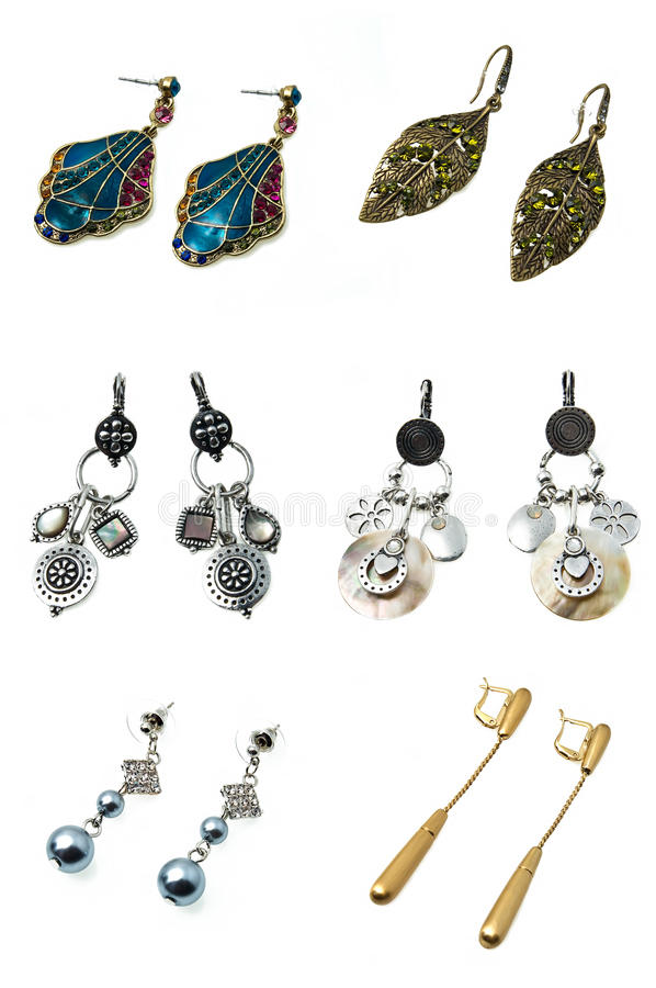 Download A set of earrings stock photo. Image of diamond, gift - 16325090