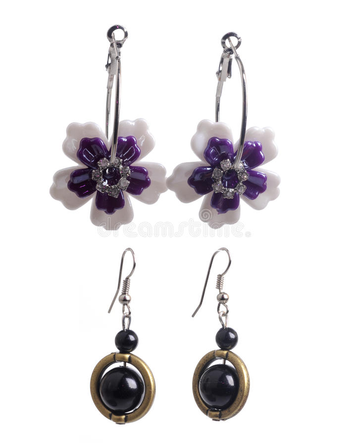 Set Of Earrings Stock Images