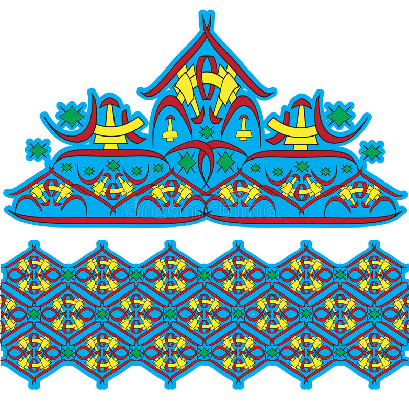 Download Set of east ornaments stock vector. Image of motifs, asia - 19034501