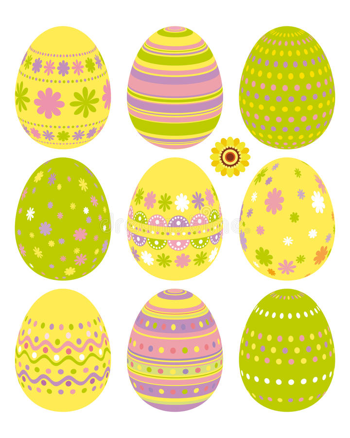 Set of Easter eggs. An illustration for your design project